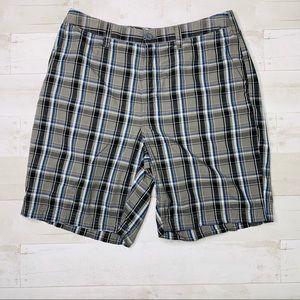 Croft and Barrow Gray Plaid Shorts